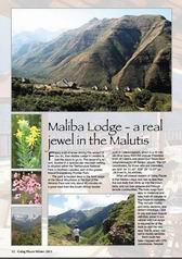 Maliba Lodge in Horizons Magazine