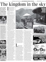 Maliba Lodge in the Sunday Express