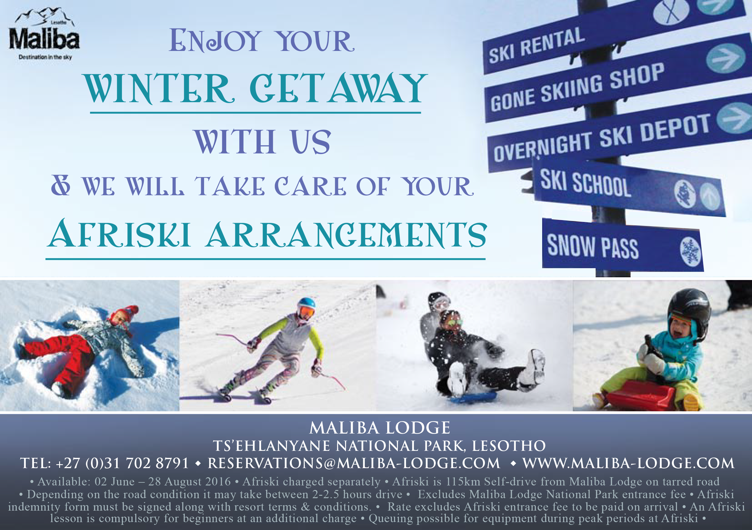 Winter Ski Bookings Promo